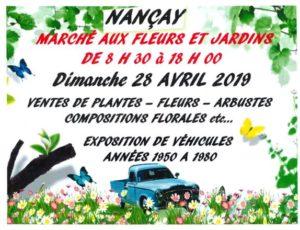 Nançay – marché aux fleurs 2019